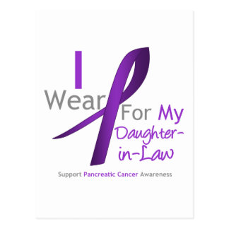 Cáncer pancreático llevo la cinta púrpura Hija-en Tarjeta Postal