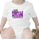 Cáncer pancreático llevo la púrpura para mi abuelo camisetas