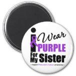Cáncer pancreático llevo la púrpura para mi herman iman de nevera