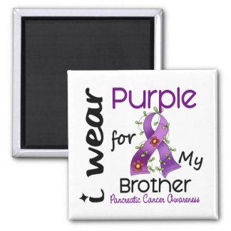 Cáncer pancreático llevo la púrpura para mi imán cuadrado