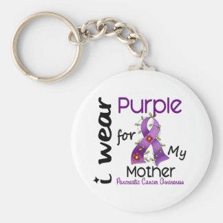 Cáncer pancreático llevo la púrpura para mi madre  llaveros personalizados