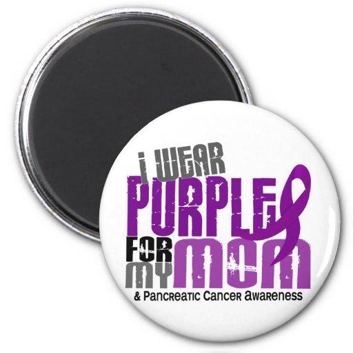 Cáncer pancreático llevo la púrpura para mi mamá 6 imán para frigorifico