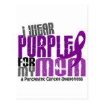 Cáncer pancreático llevo la púrpura para mi mamá 6 tarjetas postales
