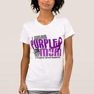Cáncer pancreático llevo la púrpura para mi mamá playera