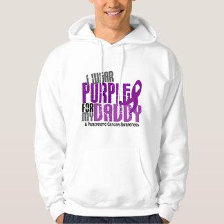 Cáncer pancreático llevo la púrpura para mi papá sudadera