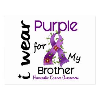 Cáncer pancreático llevo la púrpura para mi postal