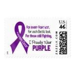 Cáncer pancreático llevo orgulloso púrpura