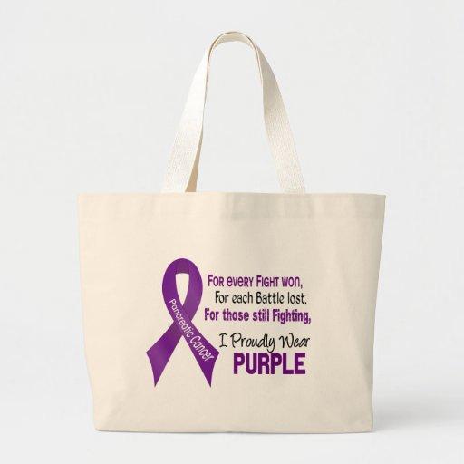 Cáncer pancreático llevo orgulloso púrpura bolsas de mano