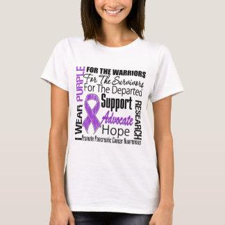 Cáncer pancreático llevo TRIBUTO púrpura de la Playera