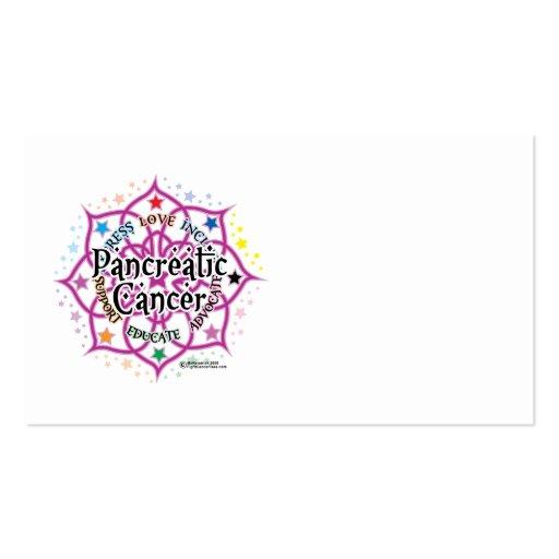 Cáncer pancreático Lotus Tarjetas De Visita