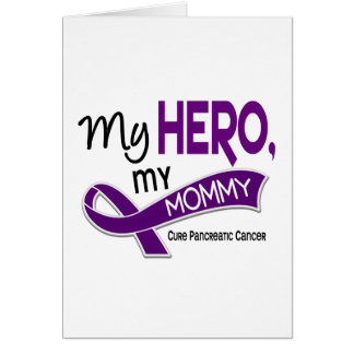 Cáncer pancreático MI HÉROE MI MAMÁ 42 Tarjeta De Felicitación