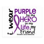 Cáncer pancreático para mi héroe mi amigo 2 postal
