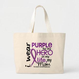 Cáncer pancreático para mi héroe mi mamá 2 bolsa tela grande