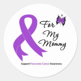 Cáncer pancreático para mi mamá pegatinas redondas