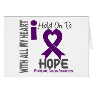 Cáncer pancreático que me aferro para esperar tarjeta de felicitación