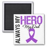 Cáncer pancreático siempre mi héroe mi papá imanes de nevera
