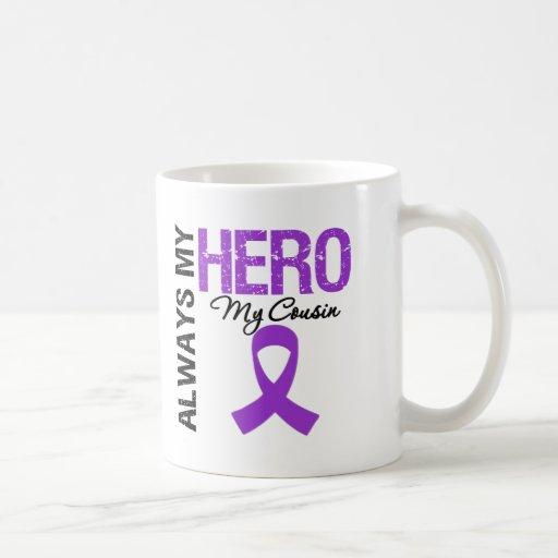 Cáncer pancreático siempre mi héroe mi primo tazas