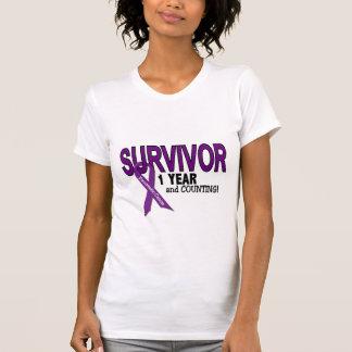 Cáncer pancreático SUPERVIVIENTE de 1 AÑO Camiseta