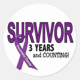Cáncer pancreático SUPERVIVIENTE de 3 AÑOS Etiqueta Redonda