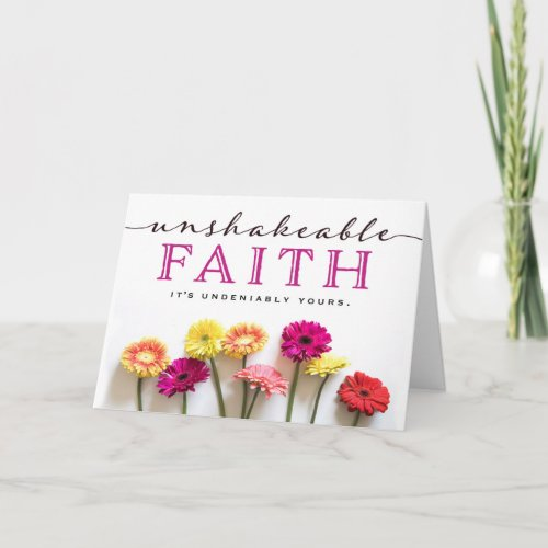 Cancer Patient Encouragement - Unshakable Faith Card