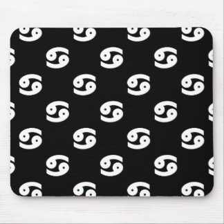 Cancer Pattern Black and White Mouse Pad