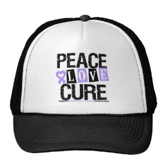 Cancer Peace Love Cure Trucker Hat