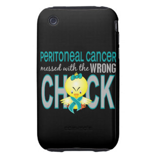 Cáncer peritoneal ensuciado con el polluelo tough iPhone 3 cárcasa