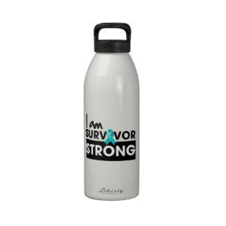 Cáncer peritoneal soy superviviente fuerte botellas de agua reutilizables