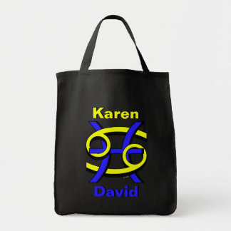 Cancer & Pisces BY Tote Bags