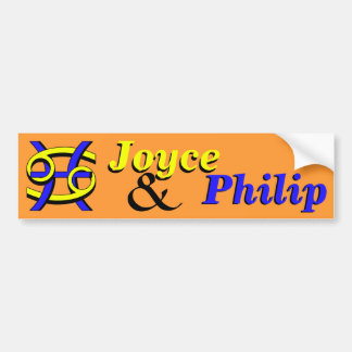 Cancer & Pisces BY Car Bumper Sticker
