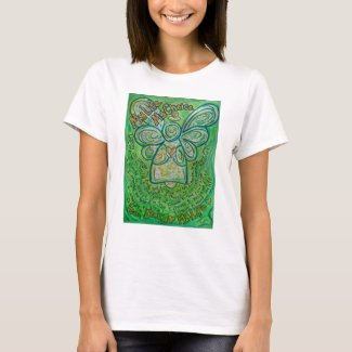 Cancer Poem Green Guardian Angel Art T-Shirt