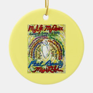Cancer Poem White Angel Art Custom Gift Ornaments