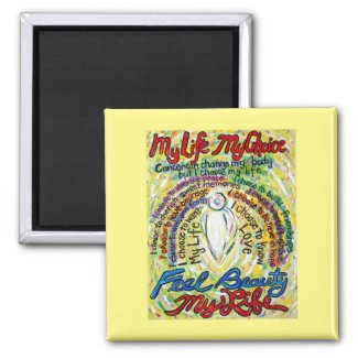Cancer Poem White Angel Art Custom Magnets