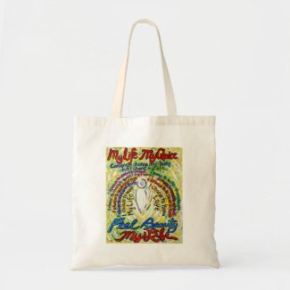 Cancer Poem White Angel Art Tote Bag