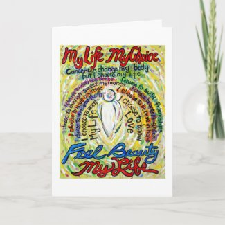 Cancer Poem White Angel Custom Greeting Cards