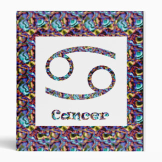 Cancer Psychedelic 3 Ring Binders