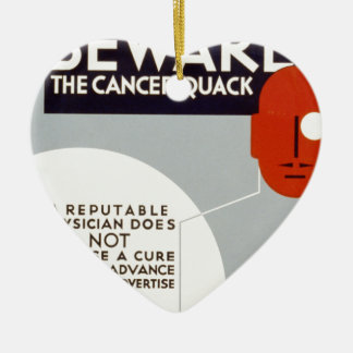 Cancer Quack Ceramic Ornament