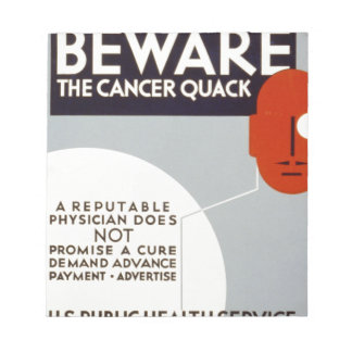 Cancer Quack Note Pad
