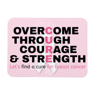 Cancer quote pink typography let's find a cure magnet