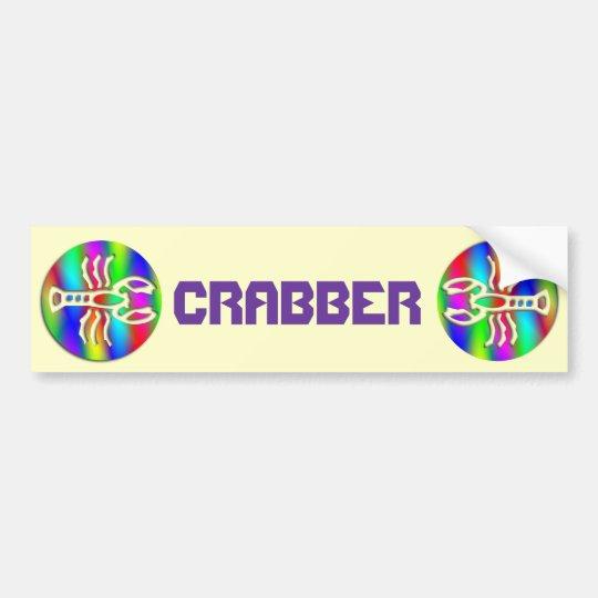 Cancer Rainbow Color Crab Zodiac Star Sign Bumper Sticker