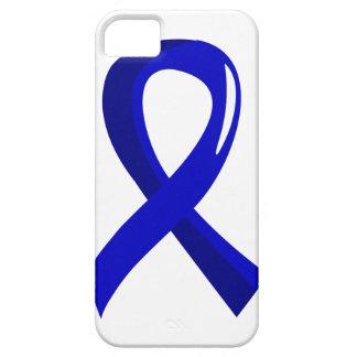 Cáncer rectal Blue Ribbon 3 iPhone 5 Case-Mate Funda