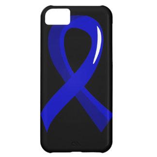Cáncer rectal Blue Ribbon 3 Funda Para iPhone 5C