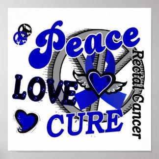 Cáncer rectal de la curación 2 del amor de la paz posters