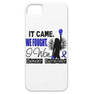 Cáncer rectal del superviviente 22 funda para iPhone 5 barely there