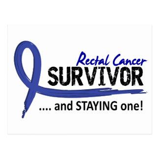 Cáncer rectal del superviviente 8 tarjeta postal