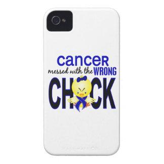 Cáncer rectal ensuciado con el polluelo incorrecto Case-Mate iPhone 4 carcasas