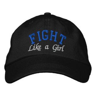 Cáncer rectal - lucha como un chica gorras bordadas