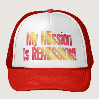 Cancer Remission Cure Red Yellow Hat Cap Survivor