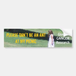 Cancer Research Bumper Sticker