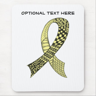 Cancer Ribbon Any Color of Your Choice Mouse Pad